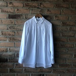 LUCKY BRAND | White ruffled collared button up